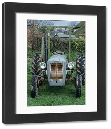 Farm machinery, Ferguson TE20, 'Little Grey Fergie' tractor, c.1955, front view, England